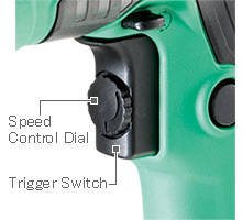 Image of Variable Speed Trigger Switch with Speed Control Dial