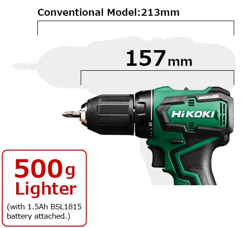 它的總長度為157毫米,比以前的型號輕500克。