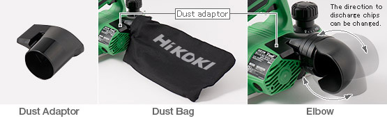 Dust bag and elbow